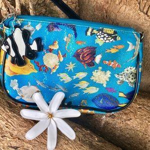 🐠 Sydney Love Blue with Multi Fish Shoulder Bag🐟